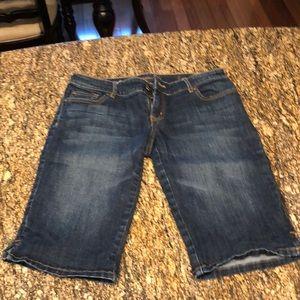 Limited denim Bermuda shorts